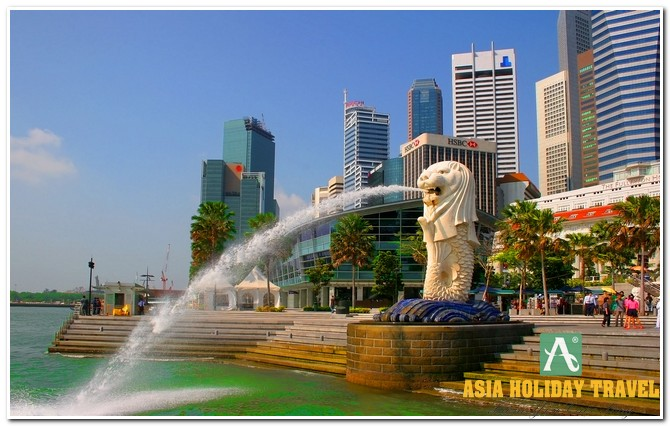 Tour du lịch Singapore - Sentosa - Garden By The Bay (Merlion Park)